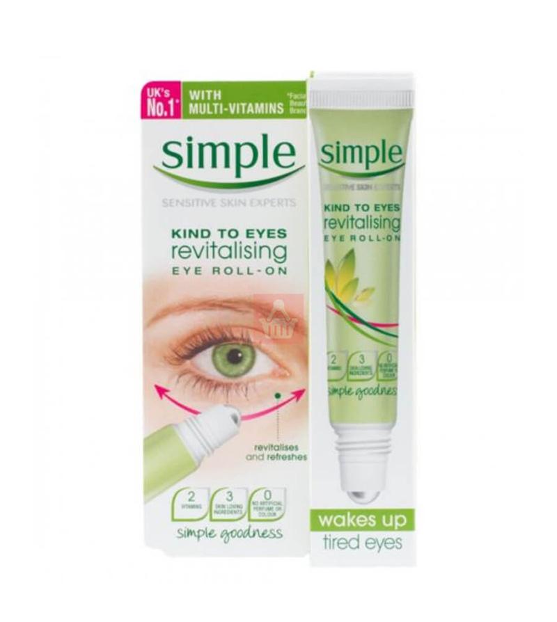Simple Kind To Eyes Revitalising Eye Roll On