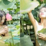 Cô gái khỏa thân chụp ảnh dưới đầm sen khiến cộng đồng mạng nhức mắt | Blog Tử Vi Phong Thủy