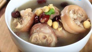 Món ngon mùa Đông: Giò heo hầm hạt sen, táo đỏ