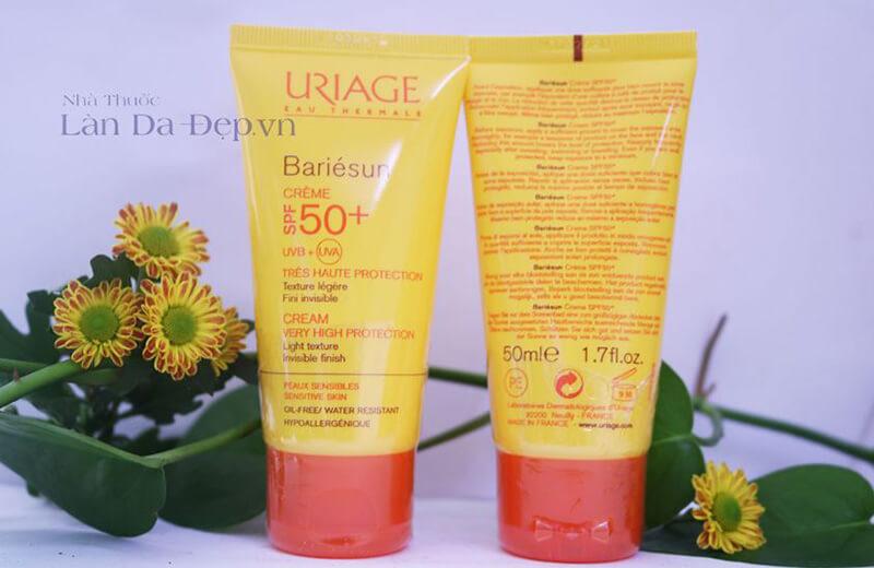 Kem chống nắng Uriage ariesun Creme Teintee Claire SPF50+ 50ml