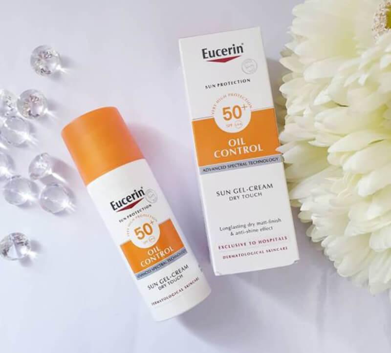 Kem chống nắng Eucerin Cream Oil Control dành cho da dầu có mụn
