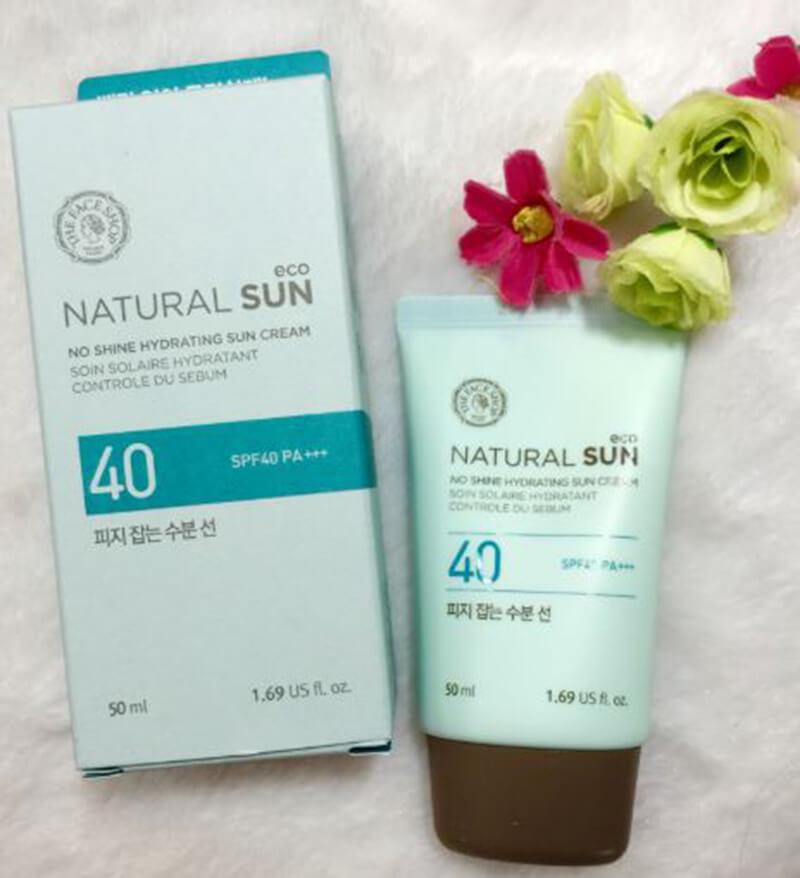 Kem chống nắng Natural Sun Eco No Shine Hydrating Sun Cream
