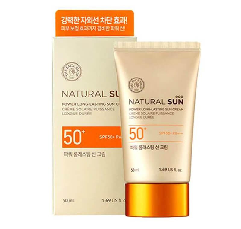 Kem chống nắng The Face Shop Natural Sun Eco Power Long – Lasting SPF 50