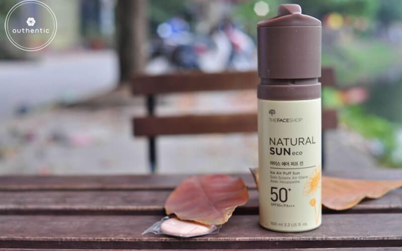 Kem chống nắng natural Sun Eco Ice Air Puff Sun SPF50+ PA++