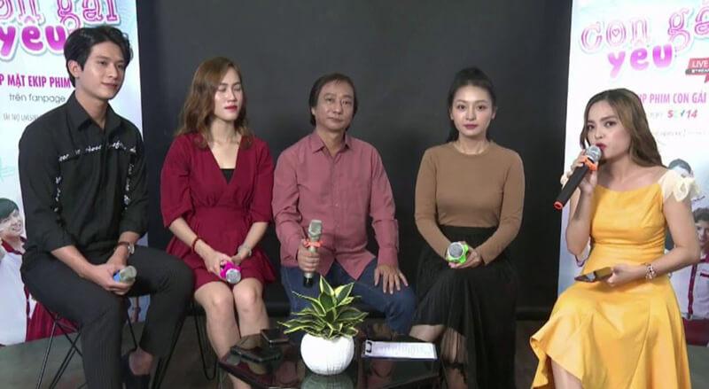 "Livestream Gặp mặt ekip phim ""CON GÁI YÊU"""