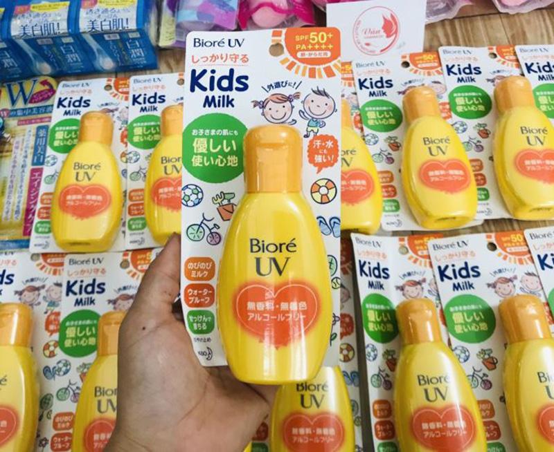 Sữa chống nắng Bioré an toàn dành cho trẻ em SPF 50+/PA++++