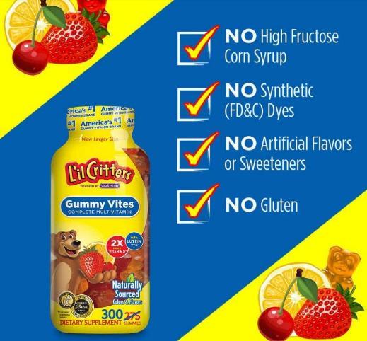 [REVIEW] Kẹo dẻo bổ sung Vitamin L'il Critters Gummy Vites 300 viên có tốt không? 1